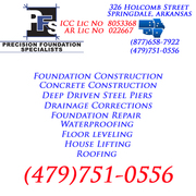 NWA Bella Vista Arkansas Foundation & Basement Repair Contractor